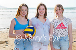 Enjoying the beach in Banna on Tuesday, l to r: Grace and Laura Reilly and Bláthnaid Walsh.