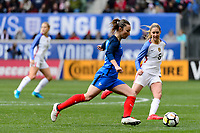 Harrison, NJ - Sunday March 04, 2018: Gaëtane Thiney during a 2018 SheBelieves Cup match match between the women's national teams of the United States (USA) and France (FRA) at Red Bull Arena.