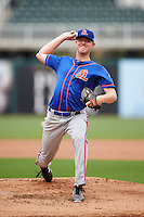 St. Lucie Mets starting pitcher Josh Prevost (27) delivers a pitch during a game against the Fort Myers Miracle on August 9, 2016 at Hammond Stadium in Fort Myers, Florida.  St. Lucie defeated Fort Myers 1-0.  (Mike Janes/Four Seam Images)
