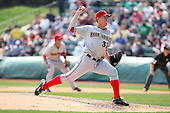 April 11, 2010:  First overall draft pick of the 2009 MLB Draft Stephen Strasburg (37) delivers a pitch making his professional debut with the Harrisburg Senators, Double-A affiliate of the Washington Nationals, in a game vs. the Altoona Curve, affiliate of the Pittsburgh Pirates, at Blair County Ballpark in Altoona, PA.  Photo By Mike Janes/Four Seam Images