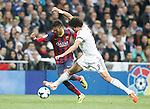 Real Madrid´s Pepe (R) and Barcelona´s Neymar JR during La Liga match in Santiago Bernabeu stadium in Madrid, Spain. March 23, 2014. (ALTERPHOTOS/Victor Blanco)