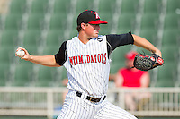 Kevin Moran #31 of the Kannapolis Intimidators in action against the Hagerstown Suns at Fieldcrest Cannon Stadium on May 30, 2011 in Kannapolis, North Carolina.   Photo by Brian Westerholt / Four Seam Images