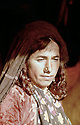 Iraq 1963 .Portrait of a nomad woman.Irak 1963.Portrait d'une femme nomade