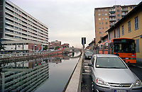 Trezzano Sul Naviglio, paese a sud - ovest di Milano. Il Naviglio Grande --- Trezzano Sul Naviglio, small village south west of Milan. Naviglio Grande channel