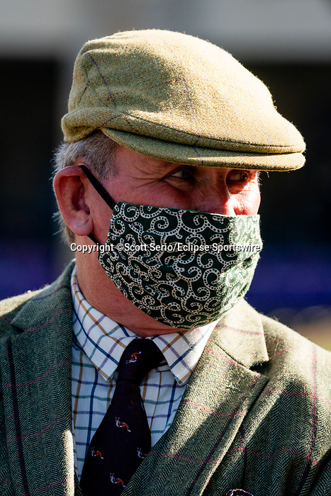 November 7, 2020 : An attendee smiles on Breeders' Cup Championship Saturday at Keeneland Race Course in Lexington, Kentucky on November 7, 2020. Scott Serio/Eclipse Sportswire/Breeders' Cup/CSM