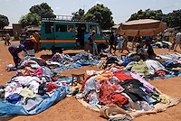 MALI Bamako, market for second hand clothes from europe / MALI Bamako, Markt fuer Altkleider importiert aus Europa