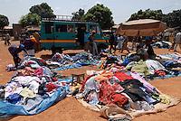 MALI Bamako, market for second hand clothes from europe / MALI Bamako, Markt fuer Altkleider importiert aus Europa