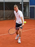 Austria, Kitzbuhel, Juli 14, 2015, Tennis, Davis Cup, Training Dutch team, Captain Jan Siemerink<br /> Photo: Tennisimages/Henk Koster