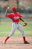 April 10, 2009:  Lendy Castillo of the Philadelphia Phillies extended spring training team during an intrasquad scrimmage at Carpenter Complex in Clearwater, FL.  Photo by:  Mike Janes/Four Seam Images