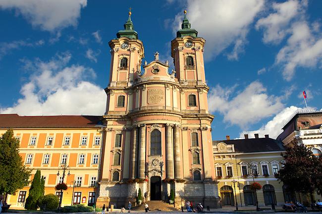 Baroque Minorite church ( Minorita Templon ) Dobo square. Eger Hungary