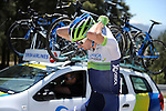Water bottle duty for Orica GreenEdge rider during Stage 5 of the 2015 Presidential Tour of Turkey running 159.9km from Mugla to Pamukkale. 30th April 2015.<br /> Photo: Tour of Turkey/Mario Stiehl/www.newsfile.ie