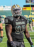 Baylor Bears defensive lineman Suleiman Masumbuko (93) in action during the game between the Southern Methodist Mustangs and the Baylor Bears at the Floyd Casey Stadium in Waco, Texas. Baylor defeats SMU 59 to 24.