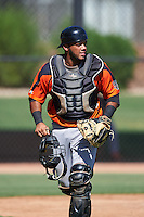San Francisco Giants Jeffrey Parra (6) during an Instructional League game against the Chicago White Sox on October 10, 2016 at the Camelback Ranch Complex in Glendale, Arizona.  (Mike Janes/Four Seam Images)