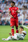David Alaba of FC Bayern Munich reacts during their 2016-17 UEFA Champions League Quarter-finals second leg match between Real Madrid and FC Bayern Munich at the Estadio Santiago Bernabeu on 18 April 2017 in Madrid, Spain. Photo by Diego Gonzalez Souto / Power Sport Images