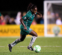 St. Louis Athletica forward Enoila Aluko (9) handles the ball against FC Gold Pride during a WPS match at Korte Stadium, in St. Louis, MO, May 9 2009. St. Louis Athletica won the match 1-0.