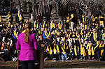 "Dignitaries speak to several hundred people at a ""Nevada Supports School Choice"" rally in support of educational choices on the Capitol grounds in Carson City, Nev., on Wednesday, Jan. 28, 2015.<br /> Photo by Cathleen Allison"