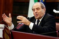 Italian magistrate Antonio Di Pietro<br /> Rome February 18th 2020. Senate. Event 'United against the corruption'.<br /> Foto Samantha Zucchi Insidefoto