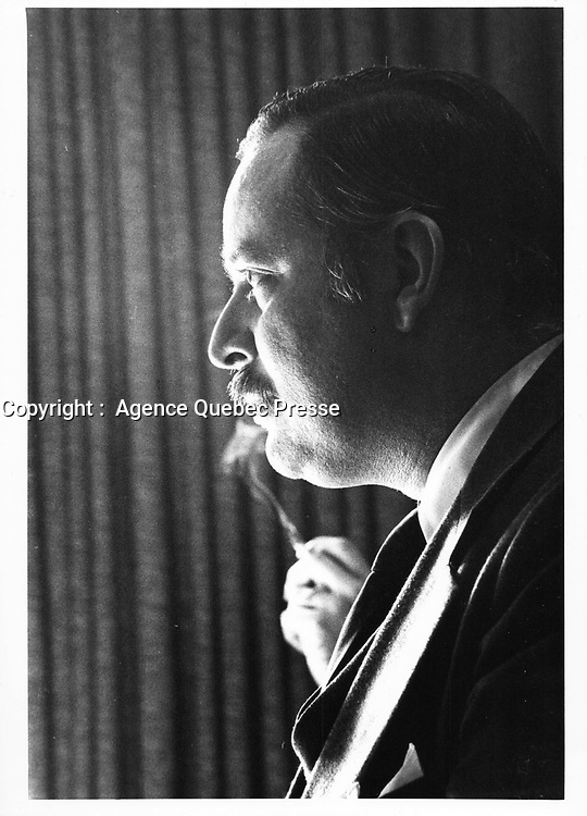Jacques Parizeau<br /> , 1977<br /> <br /> <br /> <br /> <br /> <br /> PHOTO : JJ Raudsepp<br />  - Agence Quebec presse