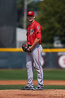 Harrisburg Senators pitcher Lucas Giolito (44) gets ready to deliver a pitch during a game against the Erie Seawolves on August 30, 2015 at Jerry Uht Park in Erie, Pennsylvania.  Harrisburg defeated Erie 4-3.  (Mike Janes/Four Seam Images)