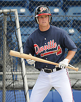 June 18, 2008: Infielder Randy Gress (7) of the Danville Braves, rookie Appalachian League affiliate of the Atlanta Braves, prior to a game against the Burlington Royals at Dan Daniel Memorial Park in Danville, Va. Photo by:  Tom Priddy/Four Seam Images