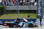 NASCAR Camping World Truck Series<br /> Overton's 150<br /> Pocono Raceway, Long Pond, PA USA<br /> Saturday 29 July 2017<br /> Christopher Bell, SiriusXM Toyota Tundra, celebrates after winning.<br /> World Copyright: John K Harrelson<br /> LAT Images