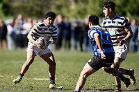 Tevita Asi of Otago Boys, during the 1st XV South Island Final rugby match between Otago Boys High School 1st XV and Nelson College 1st XV at Littlebourne in Dunedin, New Zealand on Saturday, 31 August 2019. Photo: Joe Allison / lintottphoto.co.nz