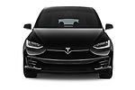 Car photography straight front view of a 2017 Tesla Model-X 100D 5 Door SUV Front View