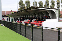 General view of the main stand during Romford vs Aveley, Pitching In Ishmian League North Division Football at Mayesbrook Park on 26th September 2020