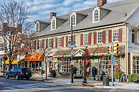 Holiday shops in Chestnut Hill, Pennsylvania, USA