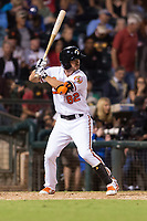 AFL West center fielder Ryan McKenna (82), of the Glendale Desert Dogs and Baltimore Orioles organization, at bat during the Arizona Fall League Fall Stars game at Surprise Stadium on November 3, 2018 in Surprise, Arizona. The AFL West defeated the AFL East 7-6 . (Zachary Lucy/Four Seam Images)