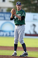 Jamestown Jammers pitcher Josh Hodges #44 delivers a pitch during a game against the Batavia Muckdogs at Dwyer Stadium on June 27, 2011 in Batavia, New York.  Batavia defeated Jamestown 4-3.  (Mike Janes/Four Seam Images)