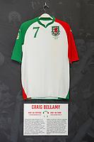 Craig Bellamys' 2007/08 Wales third shirt is displayed at The Art of the Wales Shirt Exhibition at St Fagans National Museum of History in Cardiff, Wales, UK. Monday 11 November 2019