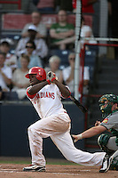 July 12 2009: Tyreace House of the Vancouver Canadians during game against the Boise Hawks at Nat Bailey Stadium in Vancouver,BC..Photo by Larry Goren/Four Seam Images