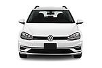 Car photography straight front view of a 2019 Volkswagen Golf SportWagen S 5 Door Wagon
