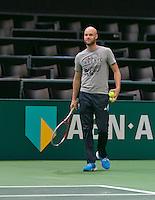 09-02-14, Netherlands,Rotterdam,Ahoy, ABNAMROWTT,   Melle van Gemerden(NED)  the coach of Thiemo de Bakker,<br /> Photo:Tennisimages/Henk Koster