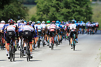 26th May 2021; Canazei, Trentino, Italy; Giro D Italia Cycling, Stage 17 Canazei to Sega Di Ala ; Cyclists in action on the downhill after Baselga di Pine near Valle