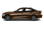Car driver side profile view of a 2019 BMW 3 Series Sport PHEV 4 Door Sedan