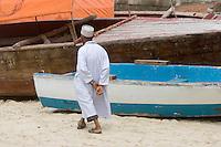 Afrique/Afrique de l'Est/Tanzanie/Zanzibar/Ile Unguja/Stone Town: la plage scenes de vie depuis la terrasse du Livingstone Beach Restaurant