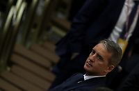 Italy's national team coach Roberto Mancini, together with managers and members of the Italian Football Federation (FIGC) and Gazzetta dello Sport newspaper, takes part in an audience with the Pope in Paul VI Hall at the Vatican, on May 24, 2019.<br /> UPDATE IMAGES PRESS/Isabella Bonotto<br /> <br /> STRICTLY ONLY FOR EDITORIAL USE