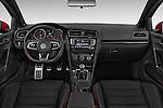 Stock photo of straight dashboard view of a 2015 Volkswagen GTI DSG 2 Door Hatchback Dashboard