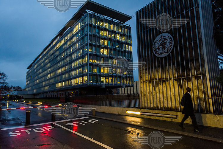 View of the World Health Organisation (WHO/OMS) headquarters in Geneva.