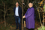 Éanna NÍ Lamhna of the Tree Council of Ireland with Colm Conyngham (Marketing and Public Relations Manager) planting a tree at the Bridgestone Balbriggan Service Centre, Unit 13 KVS Business Park, Balbriggan, Co. Dublin, Ireland on Friday 22nd November 2019.<br /> Picture:  Thos Caffrey / Newsfile<br /> <br /> All photo usage must carry mandatory copyright credit (© Newsfile   Thos Caffrey)