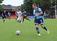 Garry Thompson of Wycombe Wanderers during the Friendly match between Aldershot Town and Wycombe Wanderers at the EBB Stadium, Aldershot, England on 26 July 2016. Photo by Alan  Stanford.