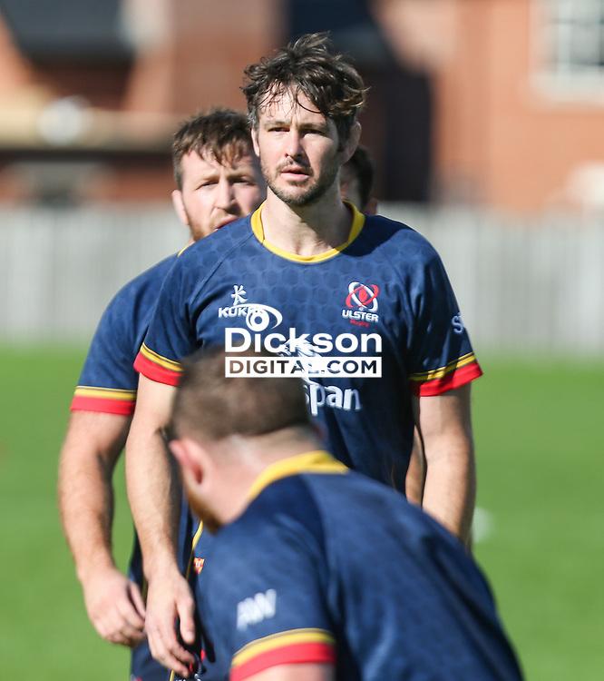 Wednesday 22nd September 2021<br /> <br /> Sam Carter during Ulster Rugby training at Perrie Park, Belfast, Northern Ireland. Photo by John Dickson/Dicksondigital