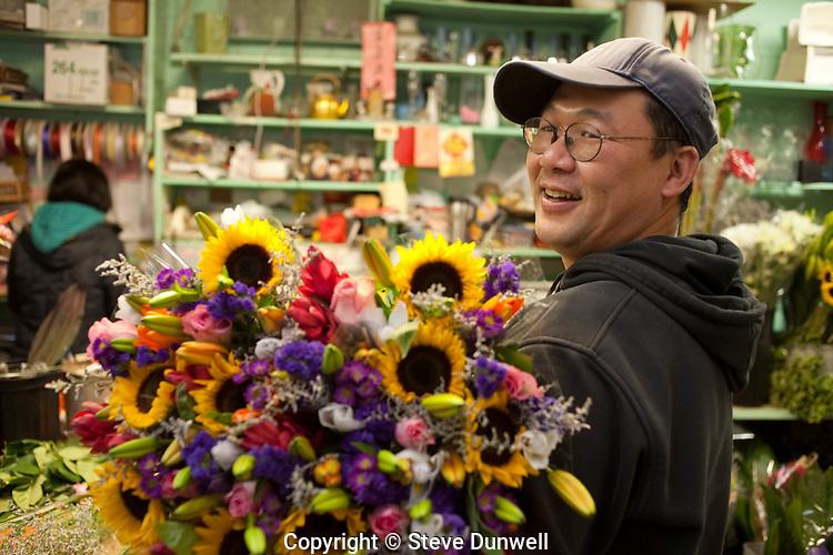 Thanh at GT Florist, Bay Village, Boston, MA
