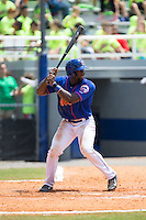 Darryl Knight (22) of the Kingsport Mets at bat against the Greeneville Astros at Hunter Wright Stadium on July 7, 2015 in Kingsport, Tennessee.  The Mets defeated the Astros 6-4. (Brian Westerholt/Four Seam Images)