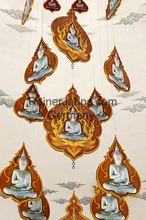 Thailand, Northern Thailand, Chiang Rai: Buddha mobile at the Wat Rong Khun (White Temple) | Thailand, Nordthailand, Chiang Rai: Buddha Mobile im Wat Rong Khun Tempel (White Temple)