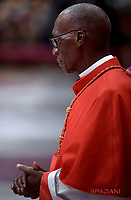 Cardinal Jean Zerbo. Pope Francis leads a consistory for the creation of five new cardinals  at St Peter's basilica in Vatican.  from countries  : El Salvador, Laos, Mali,Sweden and Spain.<br /> Cardinal Gregorio Rosa Chavez from Salvador;Cardinal Louis-Marie Ling Mangkhanekhoun from Laos;Cardinal Anders Arborelius from Sweden;Cardinal Jean Zerbo from Mali;Cardinal Juan José Omella of Spainon June 28, 2017