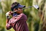 SHENZHEN, CHINA - OCTOBER 29: Thanyakon Khrongpa of Thailand plays his tee shot on the 18th hole during the day one of Asian Amateur Championship at the Mission Hills Golf Club on October 29, 2009 in Shenzhen, Guangdong, China.  (Photo by Victor Fraile/The Power of Sport Images) *** Local Caption *** Thanyakon Khrongpa