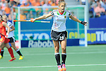 The Hague, Netherlands, June 01: Marie Maevers #23 of Germany in action during the field hockey group match (Women - Group B) between Germany and China on June 1, 2014 during the World Cup 2014 at GreenFields Stadium in The Hague, Netherlands. Final score 1:1 (0:0) (Photo by Dirk Markgraf / www.265-images.com) *** Local caption ***